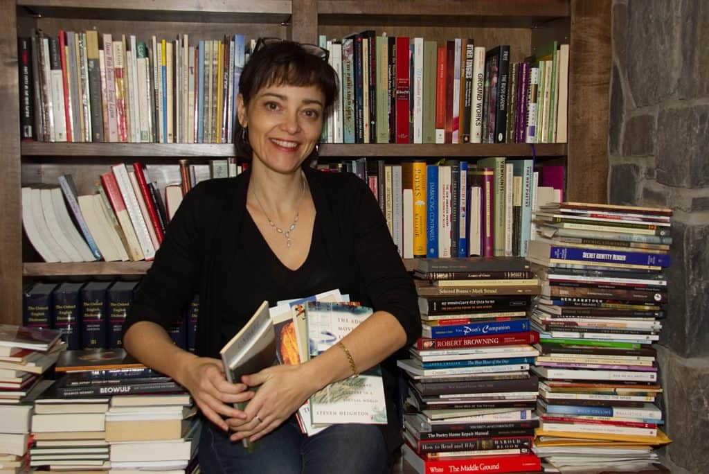 Micheline with books