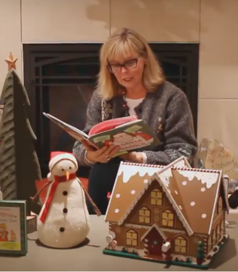 Calgary Reads: Steacy reading at Christmas time